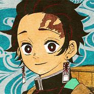 Tanjiro colored profile