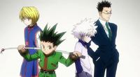 Gon, Killua, Kurapika and Leorio