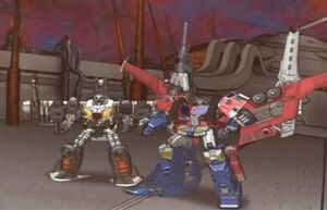 Optimus with Wing Saber (Cybertron Cartoon)