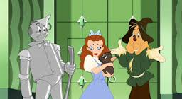 Tin Man, Dorothy, Toto and Scarecrow