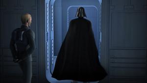 Vader exiting