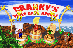 DKC 2 GBA Cranky video game heroes