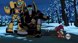 Prowl, Sari and Bumblebee