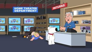 Stewie fighting Chris