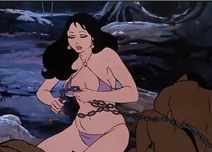 Teegra escaping her bonds