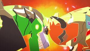 Grimlock and Terrashock (Head Smash)