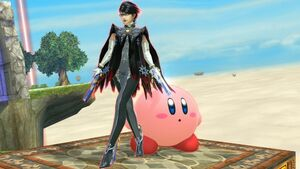 Kirby with Bayonetta