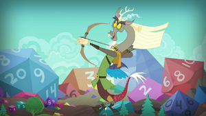 Captain Wuzz wielding his archer's bow S8E10