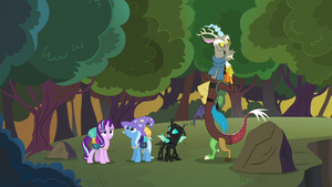 Discord, Starlight, Thorax and Trixie