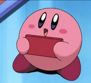 Kirby happy smile