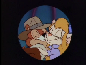 Gadget hugging Chip