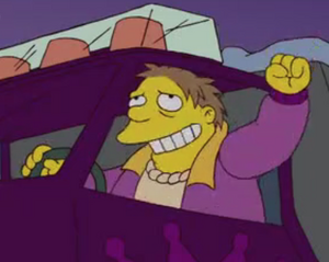 Barney Gumble grinning