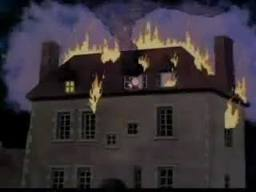 Linus trapped in burning chateau