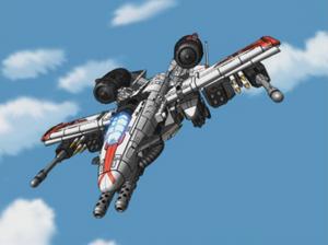 Wing Saber's Fighter Mode