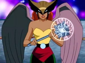 Hawkgirl ready to fight
