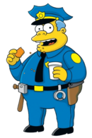 Wiggum with coffee