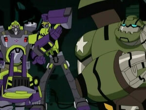 Bulkhead with Scrapper and Mixmaster (Three's a Crowd)