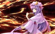 View full size patchouli knowledge girl books fire 42141 3840x2400