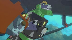 Grimlock and Octopunch in Fight