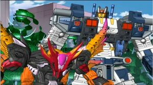 Scourge and Metroplex on Cybertron