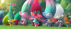 The Trolls dancing