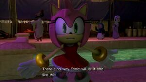 Amy is certain that Sonic won't let the world end
