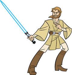 Obi-Wan clone wars 2D