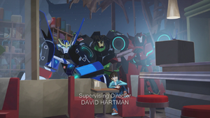 Russell with Strongarm, Grimlock and Sideswipe
