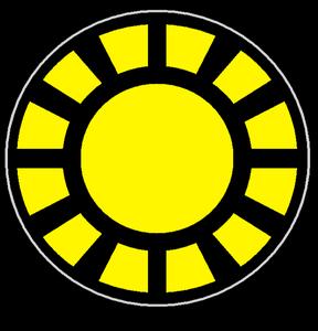 Sun vulcan symbol r by alpha vector-d4tbgdh
