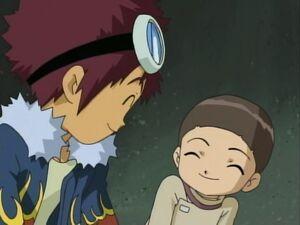 Daisuke and Iori smiling