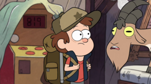 Dipper and goat