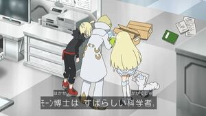Lillie, Gladion, Faba, and Snowy (SM116)