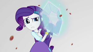 Rarity projects herself with a diamond shield EGS3