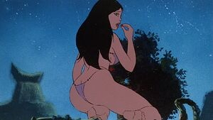 Teegra eating berries