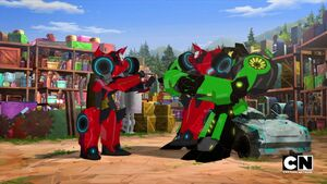 Grimlock and Two Sideswipe