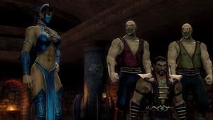 Kitana brings Shao Kahn to trial
