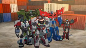 Optimus and All-Stars Team (Freedom Fighters)