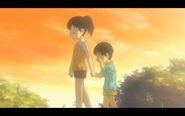Yoshimori and Tokine as children