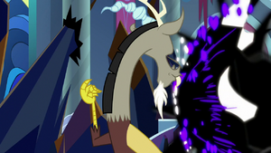 Discord protecting the Mane Six S9E2
