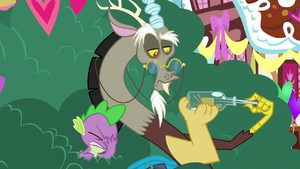 Spike did not like what Discord said.