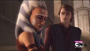 Anakin and Ahsoka parting ways