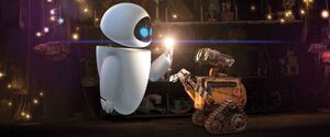 EVE in WALL-E's garage