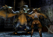 Vagrant Story - Ashley Riot about to battle against a Wyvern