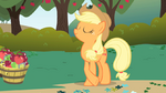830px-Applejack crosslegged