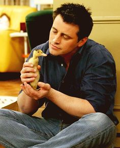 Joey with a chick