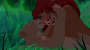 Nala Licks Simba