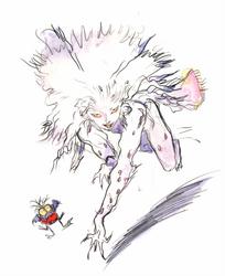 Final Fantasy VI - Terra Branford Esper Form by Yoshitaka Amano