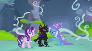Trixie talks to Pharynx about Twilight Sparkle S7E17
