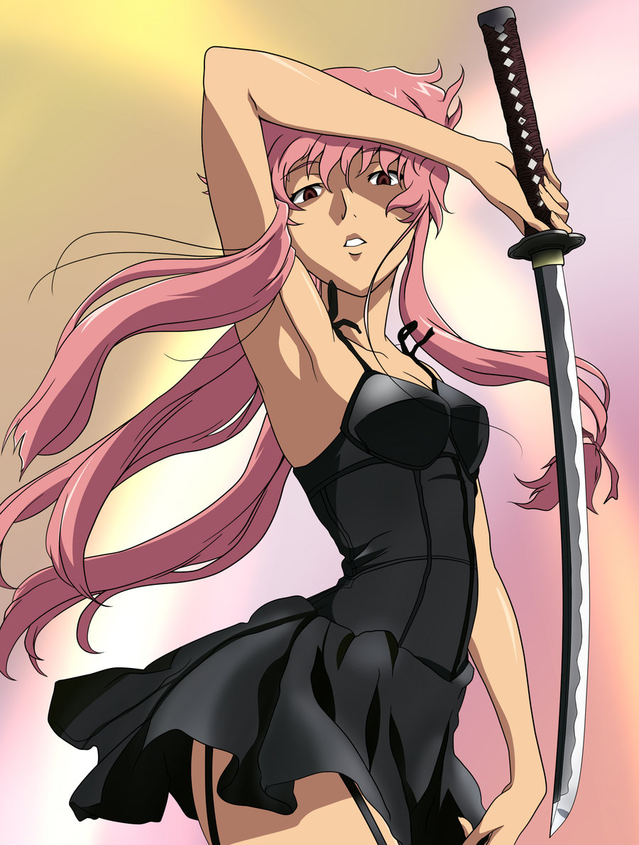 Yuno Gasai Swordswoman 1