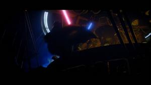 Darth Vader topples